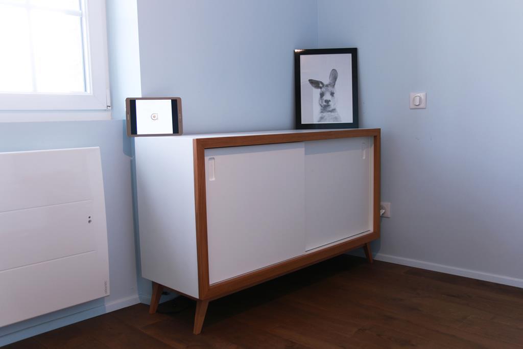 Ensemble de meubles laqués blanc et chêne vernis Rennes